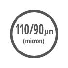 Ικανότητα φίλτρανσης 110/90 μm